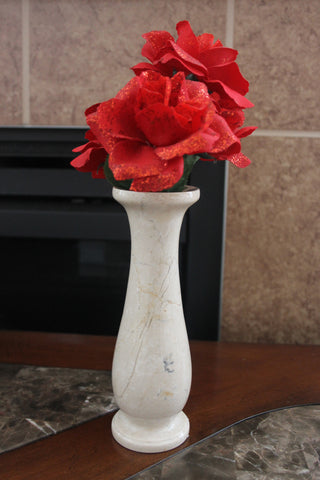 Cameo Rose Vase- Bloom Top - Marble Products International
