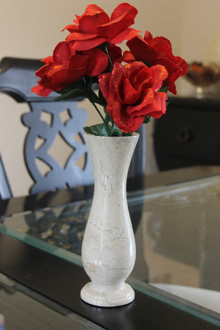Cameo Rose Vase - Marble Products International
