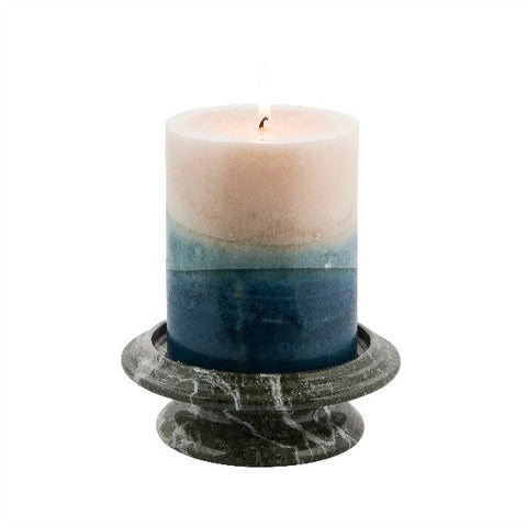 Tray Candle Holder- Green Zebra - Marble Products International
