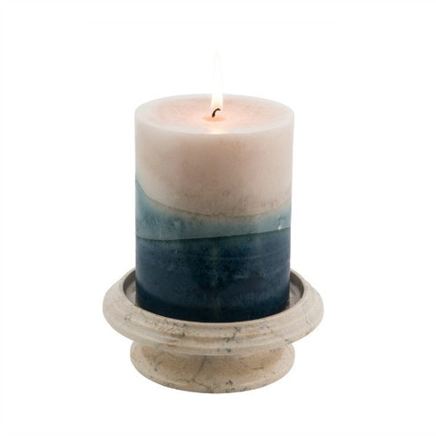 Tray Candle Holder- Cameo - Marble Products International