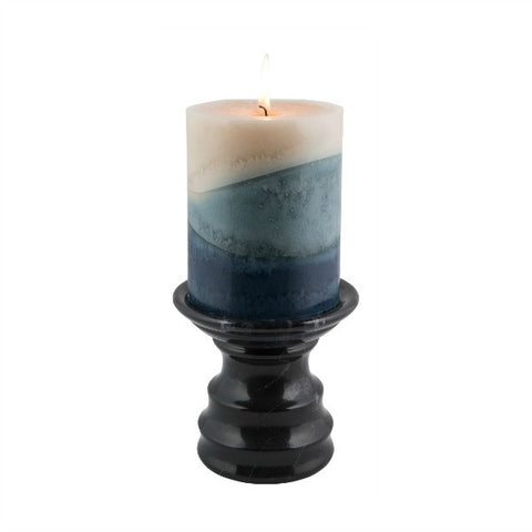 Ebony Pedestal Candle Holder - Marble Products International