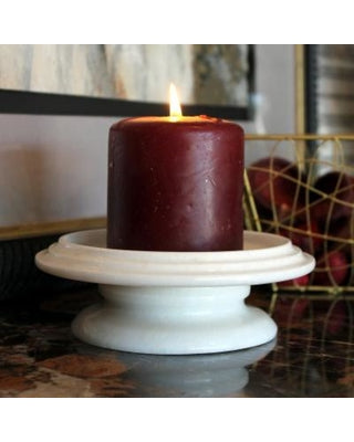 Tray Candle Holder- Antique White