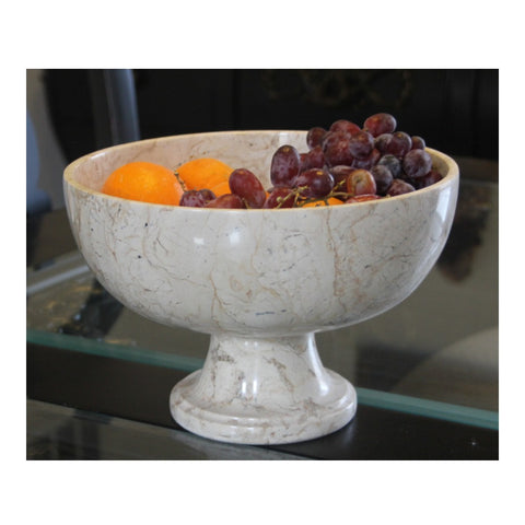 Cameo Pedestal Fruit Bowl - Marble Products International