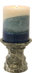 Green Zebra Pedestal Candle Holder - Marble Products International