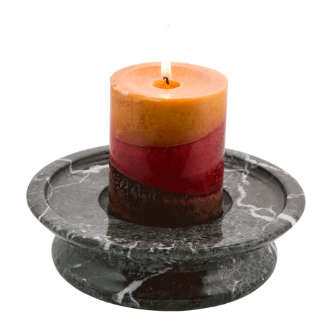 3 Tier Candle Holder - Green Zebra - Marble Products International