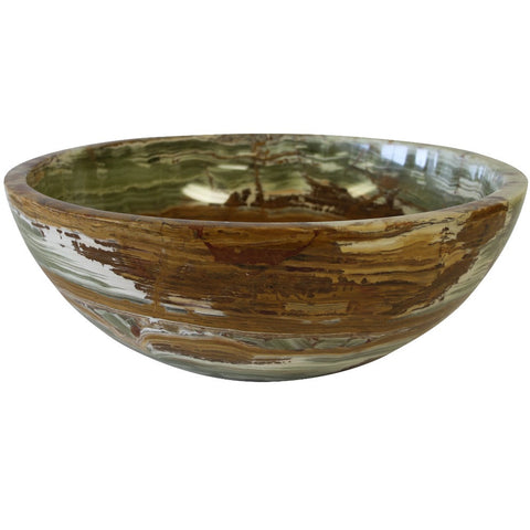 Multi Onyx Round Marble Sink - Marble Products International