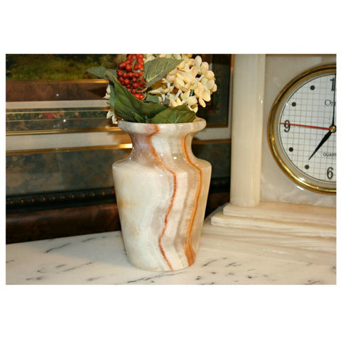 Flower vase- Small Light Onyx - Marble Products International