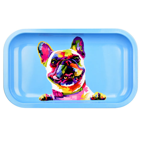 Puff Puff Pass French Bulldog Metal Tray