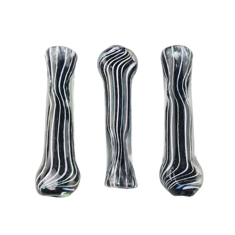 "3"" Black Frit & Slyme Work Chillum Hand Pipe [1PC]"