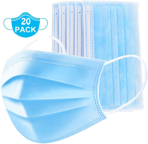 Blue Surgical Disposable Masks [20 PACK]