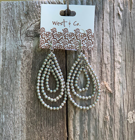 3 Layer Beaded Hoop Earring