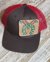 Tooled Patch Hat