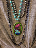 Clay Cactus Charm Necklace