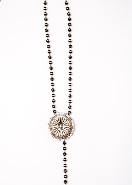Sterling City Concho Lariat Necklace