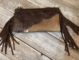 Montana West Hair on Hide Clutch