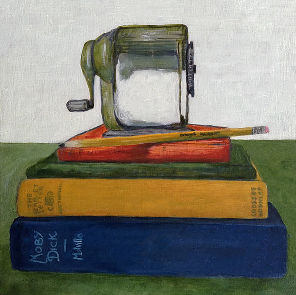 Pencil Sharpener and Books