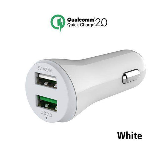 Dual USB Mobile Phone Car Charger-toys & gadgets-QC white car charger-Neptune Wild
