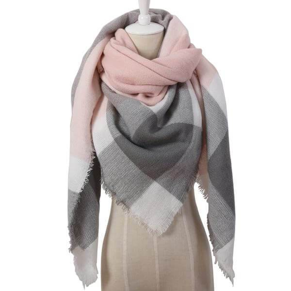 Winter Triangle Plaid Scarves-clothing-Neptune Wild