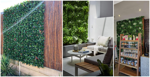 artificial hedge panels green walls and vertical gardens