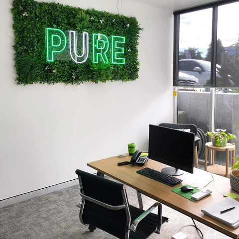 White Oasis Green Wall Panel