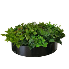 black vertical garden disc - modern artificial vertical garden disc