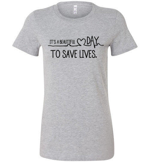 It's A Beautiful Day To Save Lives Graphic Tops - infinity owl