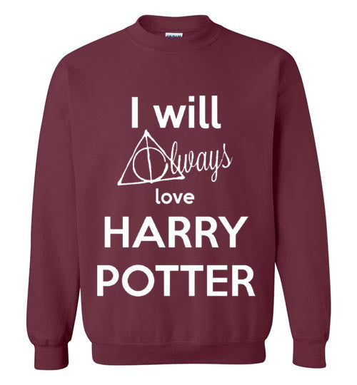 I Will Always Love Harry Potter Graphics Tops
