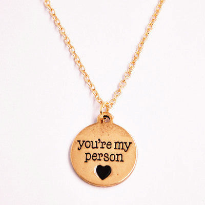 You Are My Person Necklace - infinity owl