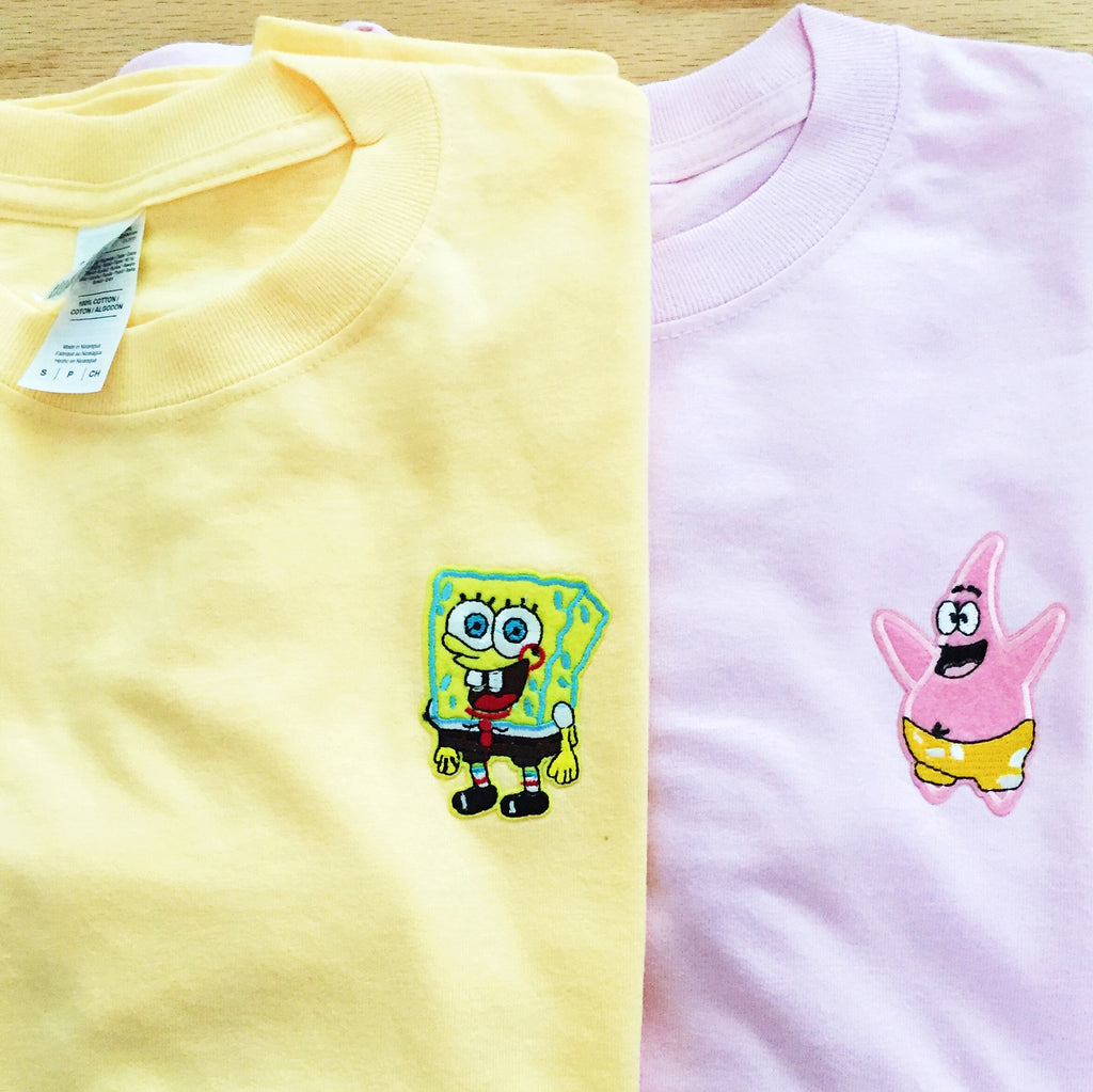 SpongeBob and Patrick Best Friends T-Shirts - infinity owl