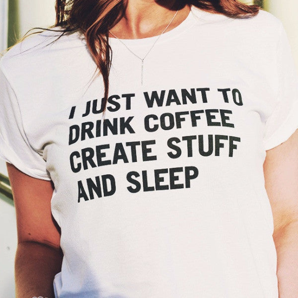 I Just Want To Create Stuff Graphic Tops - infinity owl