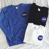 NASA Embroidery Sweatshirts