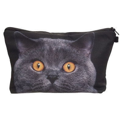 Crazy Animals Cat Makeup Bags - infinity owl