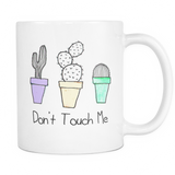 Don't Touch Me Cactus Mug - infinity owl