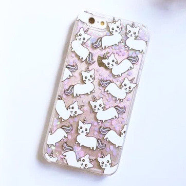 Unicorn Cat Glitter Phone Case