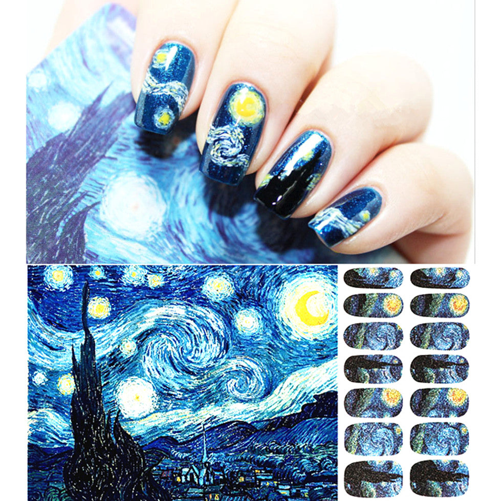 The Starry Night Nail Decal