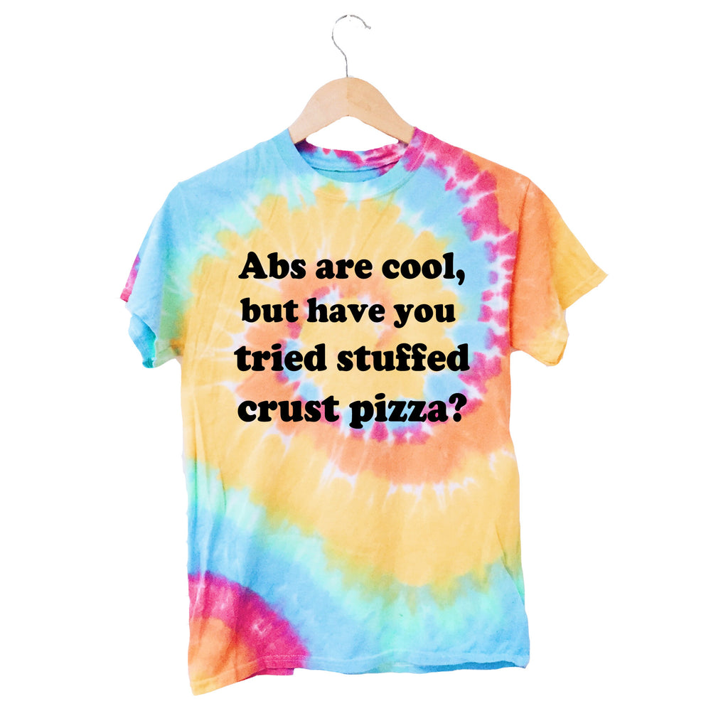 Abs Are Cool Tie Dye T-Shirt - infinity owl