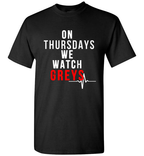On Thursdays We Watch Greys Graphic Tops
