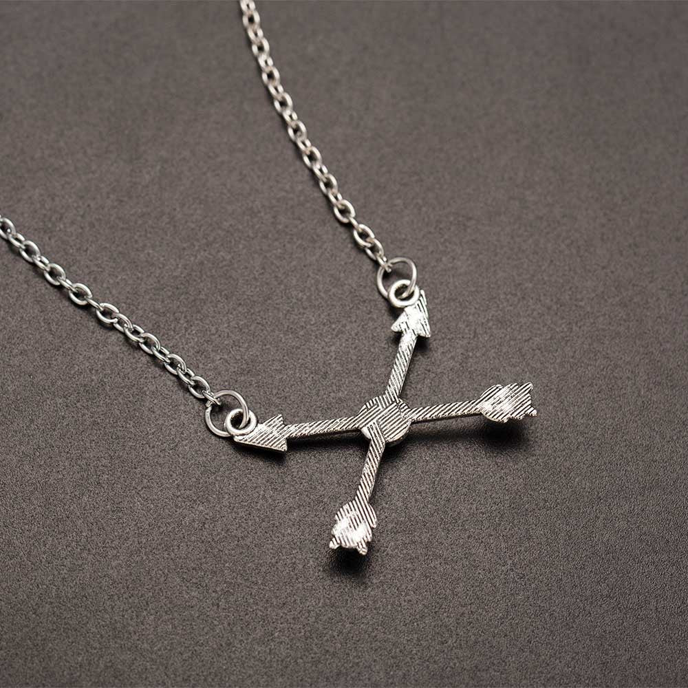 Boho Vintage Arrow of Love Cross Chain Necklace