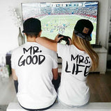 Mr. GOOD Mrs. Life Couples Tees