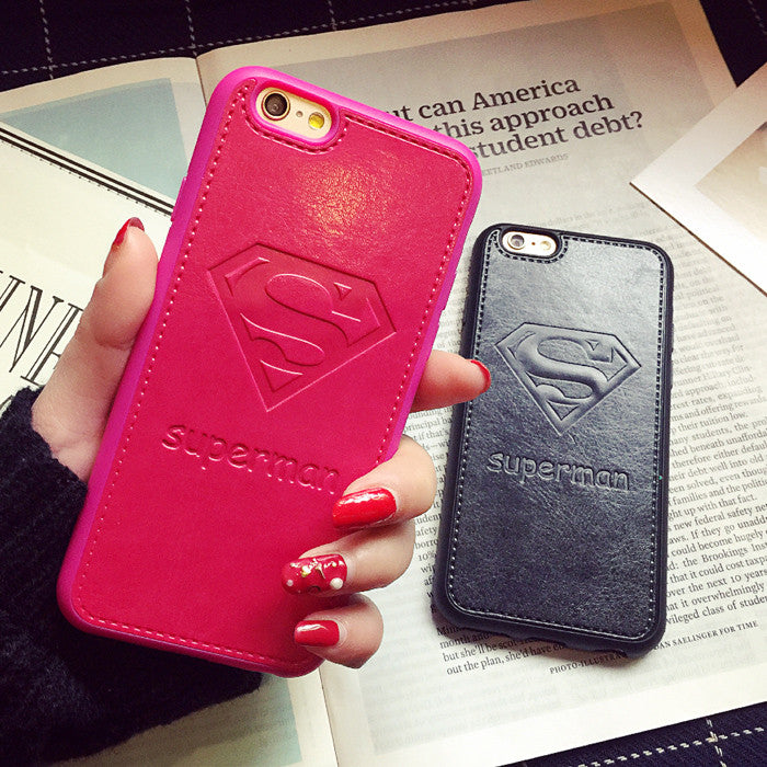 Super Man Leather Cellphone Case