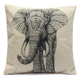 Elephant Drawing Pillow Case - infinity owl
