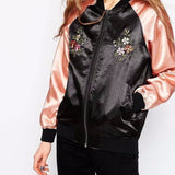 Eagle Embroidered Bomber Jacket - infinity owl