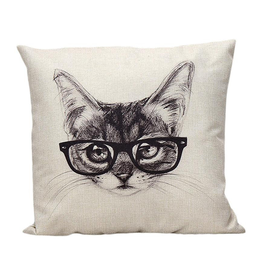 Nerd Kitty Pillow Case