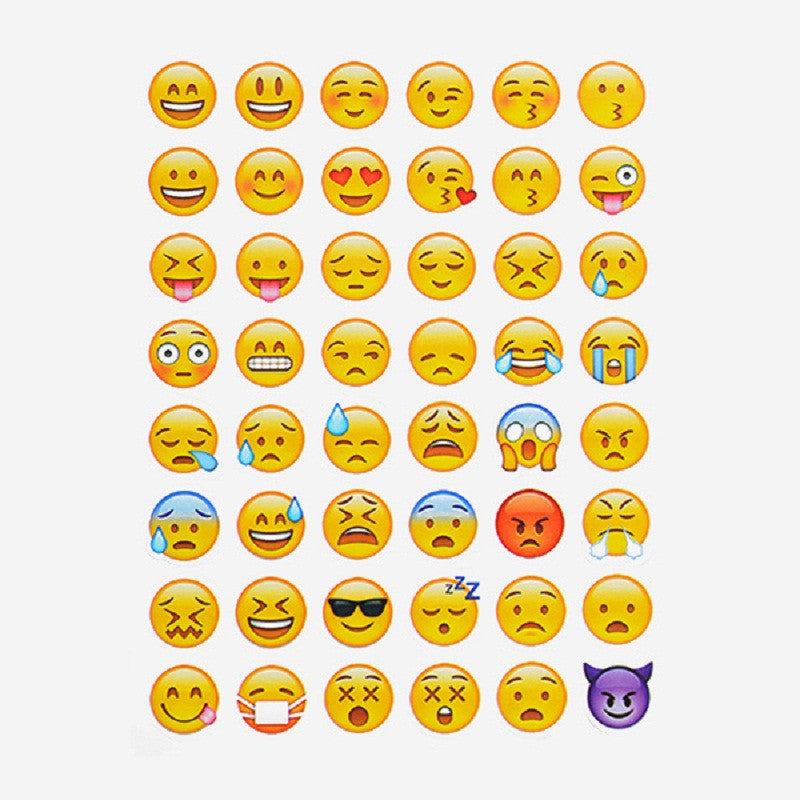 One Sheet/ 48 Pieces Smily Face Emoji Stickers
