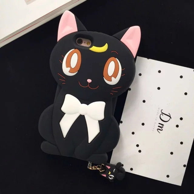 Cute Luna Cat Silicone Phone Case