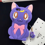 Cute Luna Cat Silicone Phone Case - infinity owl