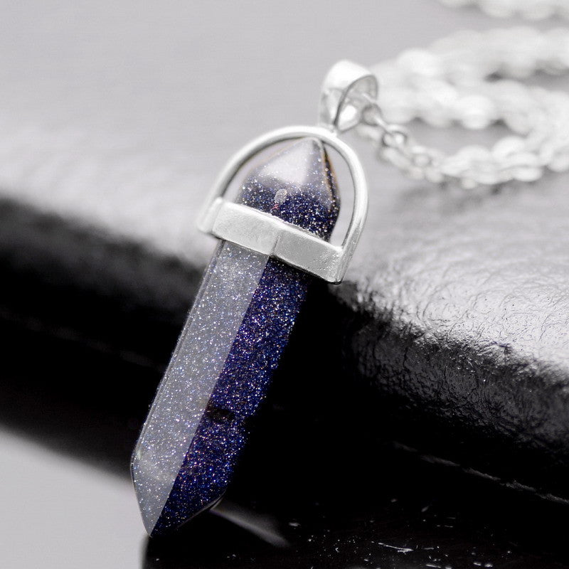 Silver Plated Natural Stone Oapl Necklaces