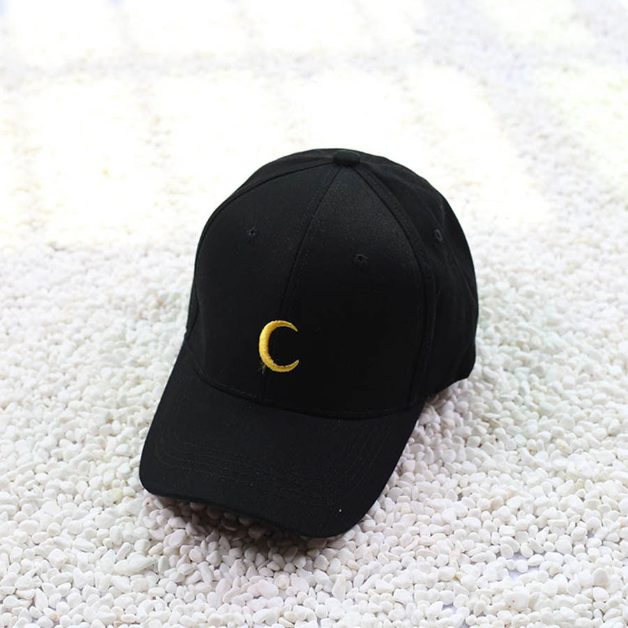 Black/White Luna Moon Baseball Cap
