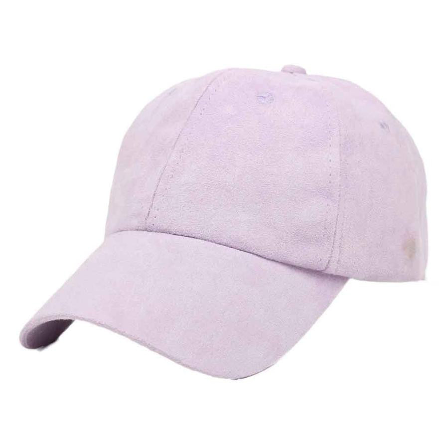 Suede Fabric Adjustable Baseball Caps