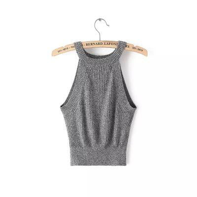 Bunny Sexy Knitted Crop Top - infinity owl